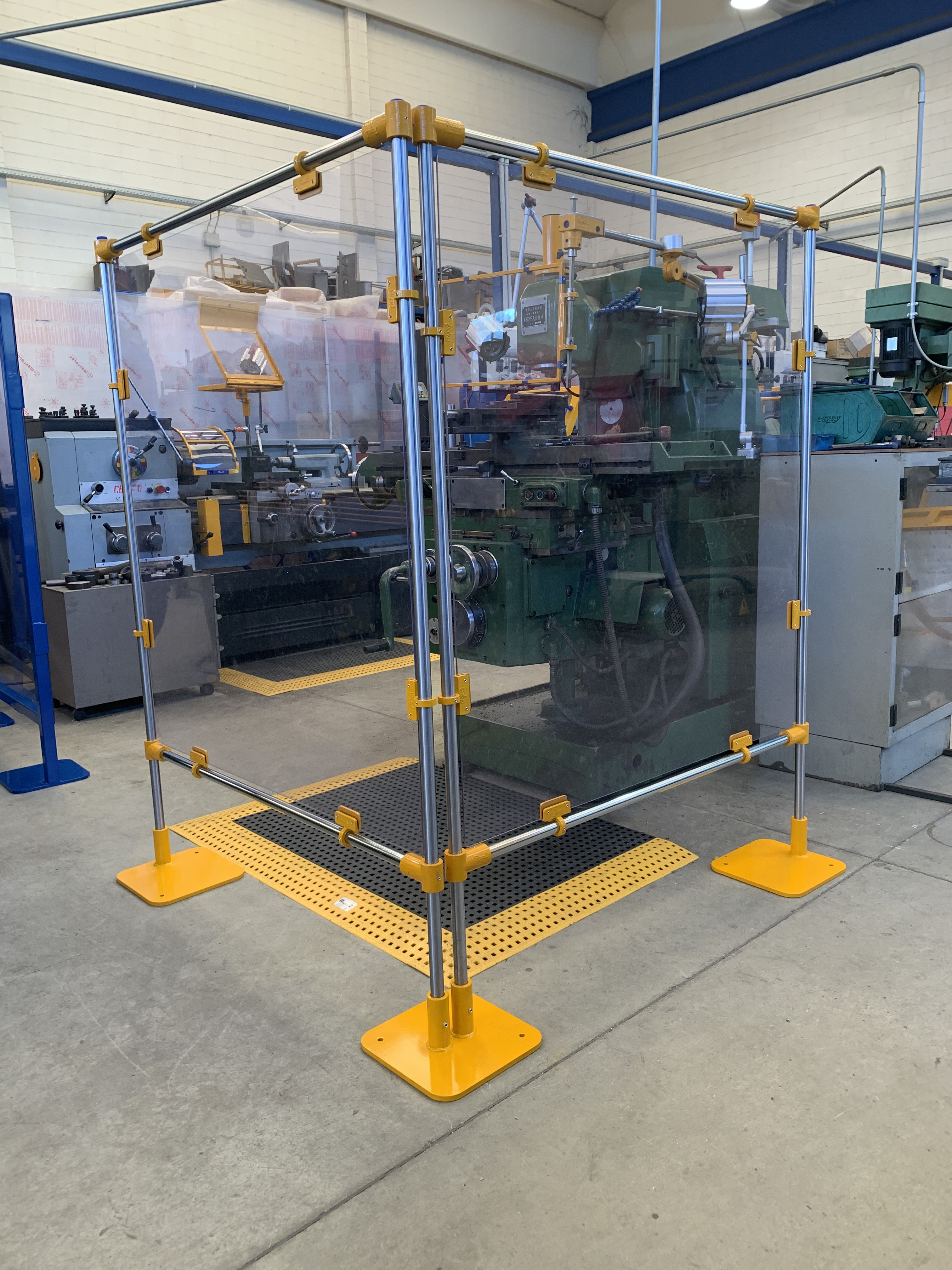 Covid protection shop floor milling