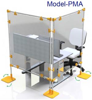Covid protection Screen Corner PMA