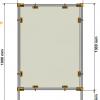 Covid protection Screen PM1 Dimensions