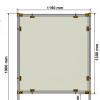 Covid protection Screen PM2 Dimensions