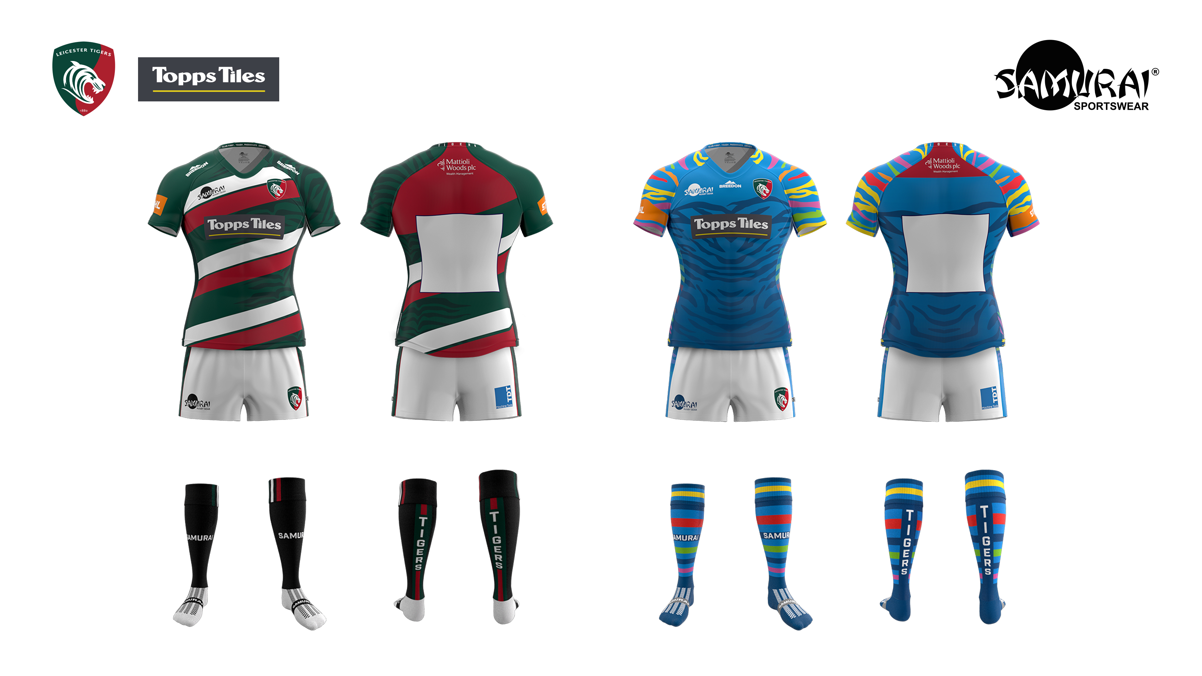 Leicester tigers full-home kit TDT